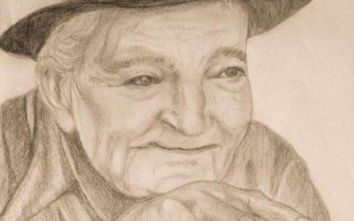 זקן – ציור של רחל טוקר שיינס