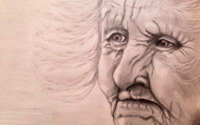 דיוקן זקנה – ציור של רחל טוקר שיינס