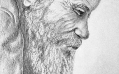 קשיש עם זקן – ציור של רחל טוקר שיינס